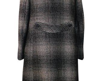 1980's Fur Collared Tweed Coat