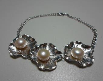 Pearl Lotus Bracelet