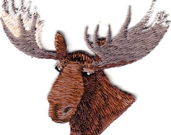 MOOSE HEAD iron on patch applique