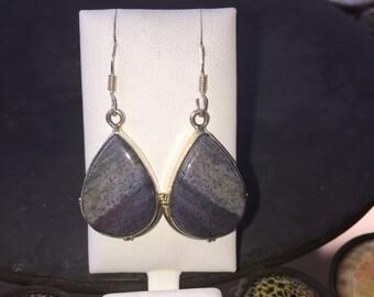 Silver and jasper earrings
