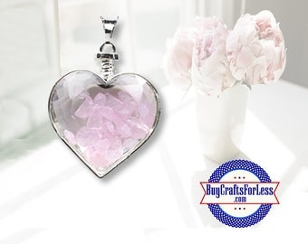 CLEARANCE Crystal PENDANT, Reiki Crystal, Pink Quartz +99cent SHIPPING & Discounts*