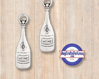 WINE Bottle Charms, 6 pcs +Discounts & FREE Shipping*