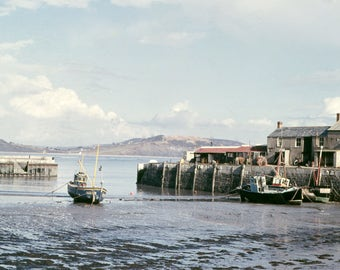 Lyme Regis Harbour in West Dorset probably  taken early 60s cleaned up but from an original Negative at least 300 DPI