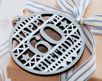 60th Birthday Gift Tag