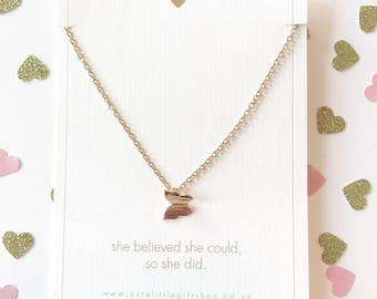 Pretty Butterfly Necklace - Gold