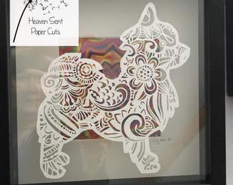 Beautiful Chihuahua Papercut perfect gift