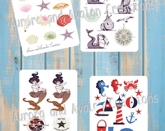 Sea life...Stickers for planners, scrapbooks etc