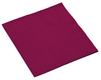 50-100 Burgundy Beverage Disposable Napkin, Wedding Napkins, Napkins, Beverage Napkins, Wedding, Party, Wedding Supplies, Party Supplies