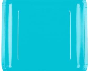 "25 (7"") Bermuda Blue Square Paper Plate, Wedding Supplies, Wedding, Wedding Decor, Party Supplies, Party, Paper Plate, Wedding, Tableware"
