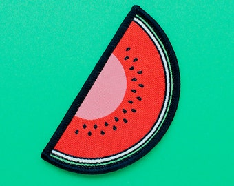 Watermelon Woven Patch   I Love Watermelon   Patches   Patchgame