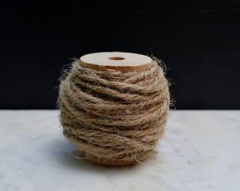Natural Color Jute Twine Spool - 10 yards Jute String - Packaging Twine