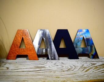"14""-24"" Large Metal Letters, Steel Decorative Letters, Custom Hanging Letters, Home Decor, Garden Decor"