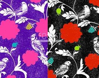 Echino dahlia cotton linen Japanese Fabric - 50cm