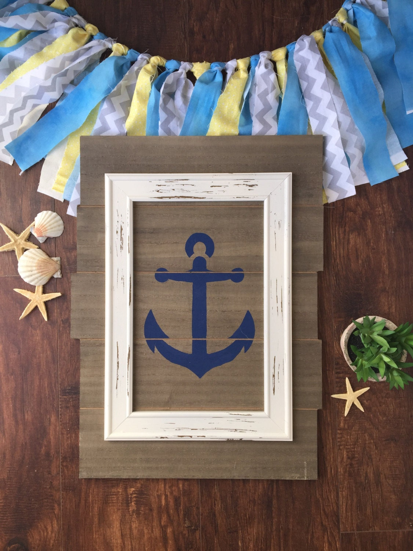 Anchor Wall Decor Nursery : Anchor wall decor art nautical nursery gifts