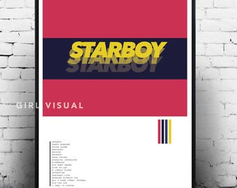 The weeknd starboy poster, The Weeknd poster, The Weeknd starboy album art, The Weeknd starboy merch, The weeknd print, The weeknd album art