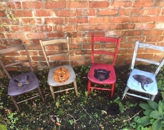 Items Similar To Vintage Kids Folk Art Chair Collection