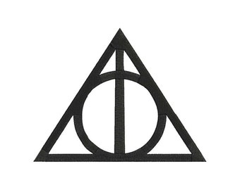 Deathly Hallows Symbol Harry Potter Embroidery Design - 4 sizes - 6 formats