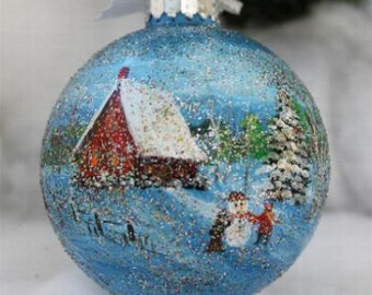Hand Painted Ornament - Christmas Hand Painted Ornament - Ornament - Christmas - Home Decor - Christmas Decoration - Painted Ornament - Gift