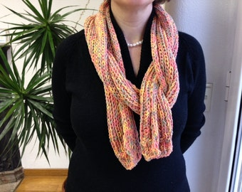 PITTED YELLOW Cotton Scarf