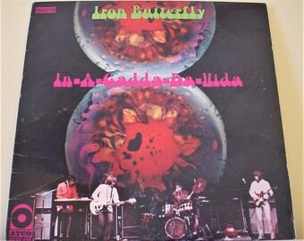 """Iron Butterfly - In-A-Gadda-Da-Vida (1968), 12"""" Vinyl LP Record Album, 1968 Repress Issue, VG+, Atco SD 33-250"""