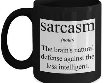 Sarcasm Definition Coffee Tea Funny Novelty Mug