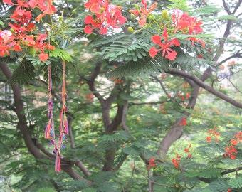 gypsyJ Tassles Flash Multicolor Necklace