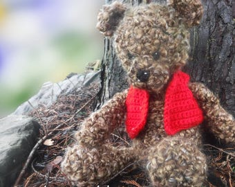 Aww - Cheerful Teddy Bear Amigurumi Crochet Pattern - Georgie Bear - Crochet Amigurumi Bear Pattern - Fun Toy -  US and UK pattern
