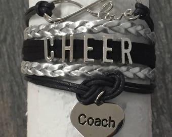 Cheer Coach Bracelet- Cheer Coach Gift - Cheerleading Coach Gift -Cheerleading - Cheer-  Cheer Jewelry Perfect Gift for Cheer Coaches