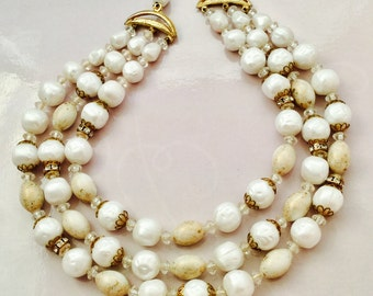 1950's Triple Strand Necklace