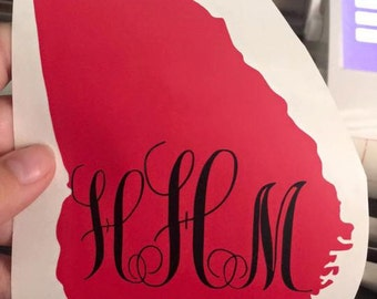 Monogram State Decal