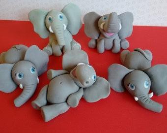 Elephant cake toppers, handmade , edible