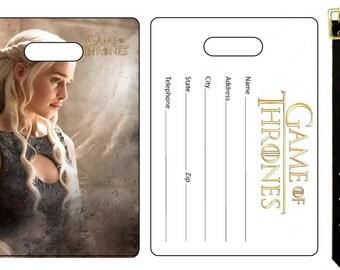 Game of Thrones Daenerys Targaryen Emilie Clarke  Bag Luggage Tag