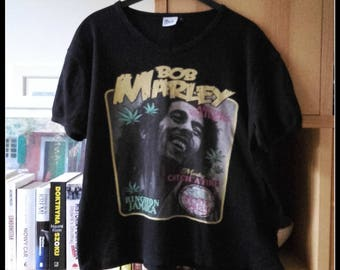 vintage retro BOB MARLEY reggae tee t shirt t-shirt tank top size  M medium L Large party rock festival summer holiday
