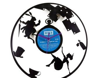 Disney Alice in Woderland Vinyl Clock