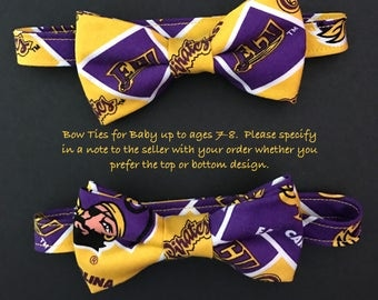 ECU Bow Ties for Adult, Youth (ages 7-8 thru 13-14), & Little Boys (Baby up to ages 7-8); ECU Pirates Bow Ties; Adjustable ECU Bow Ties