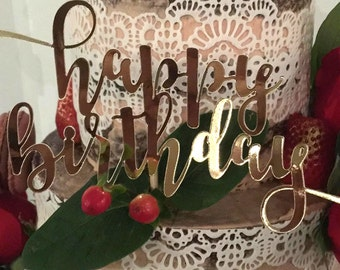 Cake topper | Foil | Glitter | Happy Birthday