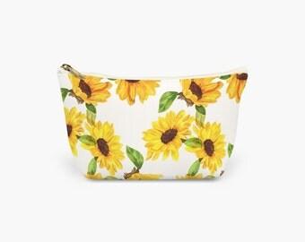 Sunflowers Make Up Bag.  Wash Bag. Cosmetics Bag. Toiletries Bag. Large, Medium and Small available.