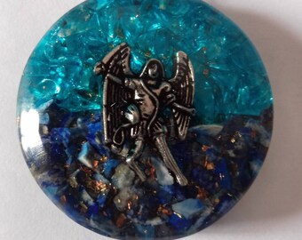 Archangel Michael orgonite pendant.