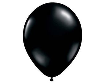 "12"" Latex Black Balloon (Set of 12)"
