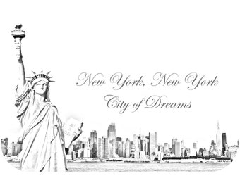 New York City Sketch Poster