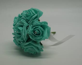 Wedding Posy - Perfect for Bridesmaids ( Tiffany Blue )