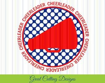 Cheerleader SVG Cut File megaphone svg DXF cut file Cricut svg Silhouette svg Vinyl Cut File Digital cut file Cricut cut file cheer dxf