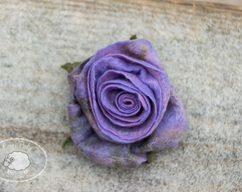 Rose Brooch Gift Ideas for Her Wool Jewelry Flower Brooch Rose Jewelry Felted Brooch, Felted Rose, Felted flower, wool felted flower