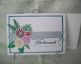 Greeting card, greeting card, birthday card, flowers