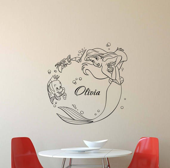 ... Personalized Little Mermaid Wall Decal By JuliaDecals