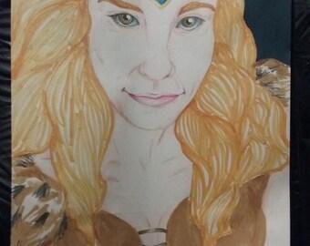 Blond viking girl