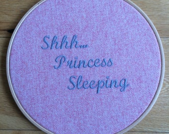 Baby girl wall plaque