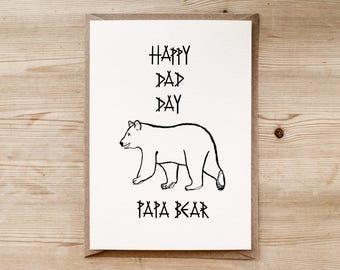 Happy Dad Day Papa Bear | A Card for Dad | Handmade by Poppins & Co