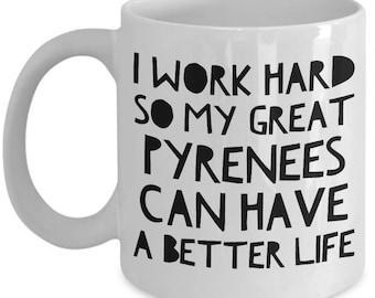 Great Pyrenees Mug - Funny Great Pyrenees Coffee Mug - Great Pyrenees Gifts - Great Pyrenees Dog Side My Side