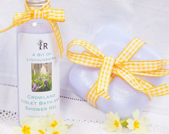 Crowland Violet Bath and Shower Gel and Soap